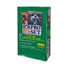 Lot of 4 Factory Sealed 1990 Pro Set Series 1 Football Box