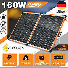 160W Folding Solar Panel Flexible SUPER LIGHT Kit Camping Mono Battery Charging