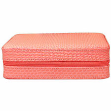 4 Watch Box Travel Case, Leather, Pink SnakeSkin LIMITED TIME SALE PRICE