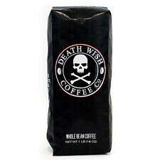 (1) 16oz Death Wish Whole Bean Coffee The World's Strongest Coffee New Free Ship