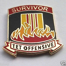 * Survivor Tet Offensive * Military Veteran Vietnam Hat Pin 15290 Ho