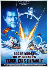 Feuer, Eis & Dynamit - Willy Bogner, Roger Moore - Filmplakat DIN A1 (gerollt)