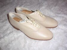 NEW Vintage Vanguard Thom McAn cream leather oxford spectator shoes mens size 8D