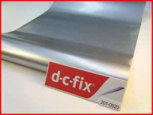 Silver Chrome Matt Steel DC FIX 1mX45cm Sticky Back Self Adhesive Contact 0020