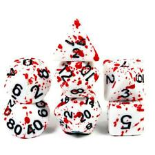 7PCS Bloody Polyhedral Dices Die for Dungeons&Dragons DND RPG MTG Board Games