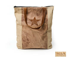 """RaaKha Imports for MDLA """"Star Banner"""" Canvas tote - New #37119"""