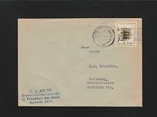 Germany TWO Covers 1955 & 56 Frankfurt Stamp Dealer & Collector Society Usage 6z