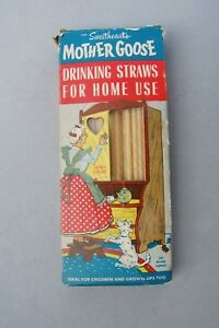 Mother Goose Drinking Straw Paper Vintage Nursery Rhyme Box Sweetheart Baltimore