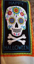 KITCHEN DISH TOWEL QUALITY MICROFIBER 100% Polyester Happy Halloween Sugar Skull