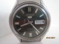 VINTAGE anni'70 Seiko 5 Gent'S in Acciaio Inox Orologio automatico.