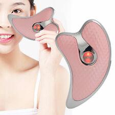 Microcurrent Facial Scraper Massager Electric Face Skin Lifting Firming Device