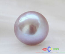 Huge 12MM natural SOUTH SEA round Genuine Lavender Loose pearl undrilled