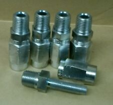Lot Of 5 Reusable Hydraulic Hose Fittings Male 14 Npt X 4 14 Hose