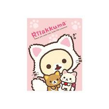 San-X Rilakkuma Plastic A4 File Folder - Multiple File Dividers Pink (24c63)