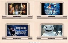 4 billboard signs, HO or OO scale, Doctor Who set# 3 - HIDE, The Snowmen