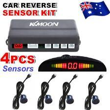 Auto Parking Sensors System Car Back Up Reverse Radar Kit LED Display Dark Blue