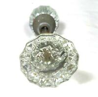 Vintage 12 point Glass Door Knob Set 2 inches with Adjustable Spindle SEE NOTES