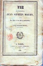 C1 NAPOLEON Vie du CARDINAL JEAN SIFREIN MAURY 1828