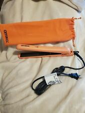 "Amika Strand Perfect Ceramic 1"" Inch Hair Straightener Flat Iron Peach Coral NEW"