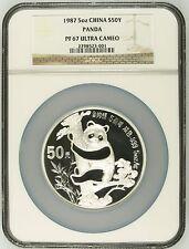 China 1987 5 oz 50Yuan Silver Proof Panda - NGC PF67UC - SN:2798523-001