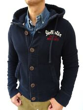 HOLLISTER Men's Navy BLUE SOFT SWEATSHIRT HOODIE HOODY JACKET Size Medium #4553