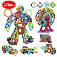 infinitoo 109 pcs Magnetic Building Blocks| 3D Magnetic Construction Rainbow