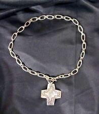 """ Virtuosity "" Necklace N0557 Silpada Sterling Silver Link Cross"