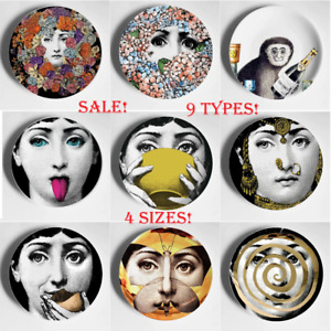 Decorative Big Eyes Art Plate With Lids Ceramic Decoration Wall Plates