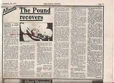GENESIS Selling England album review 1973  UK ARTICLE / clipping
