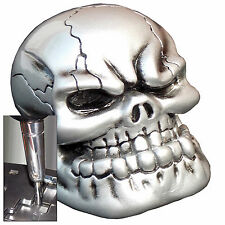 Pewter Punchy Skull shift knob for Dodge Chrys Jeep auto stick w/ adapter