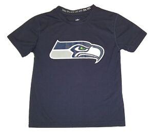 Seattle Seahawks Dri Tek Performance Tee Sizes Youth T-shirt NFL Apparel