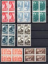 Rumänien, 1945, Mi. 836-846** Viererblock