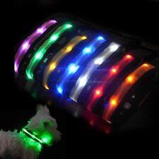 NEW LED Safety Pet Collar Light for Dog Cat Night Walking Flashing High Vis DC03