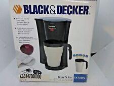 Black & Decker DCM18X Coffee And Espresso Maker - Black & White