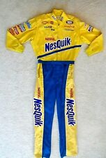 NASCAR NesQuik Fire Suit Uniform and Signed Scott Riggs Hat PPC Racing