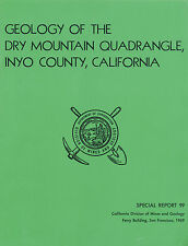Saline Valley, Death Valley, Inyo County, Calif, Dry Mtn, MINING, BIG sep. map !