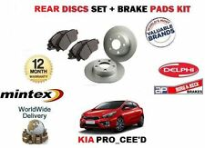 FOR KIA PRO CEED 1.4 2012 > NEW REAR BRAKE DISCS SET SOLID + DISC PADS KIT