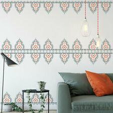 Taj Indian Border Wall STENCIL Furniture Fabric Craft The Stencil Studio 10697