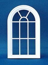 Casa de muñecas en miniatura de plástico blanco victoriano arqueado Marco de ventana 1:24 Escala