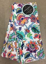 Cynthia Rowley Orange Green Jacobean Floral Dish Towels Kitchen Towels Set2
