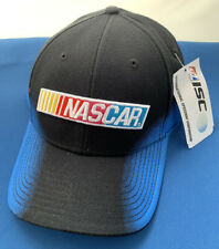 NASCAR ISC Logo Officially Licensed Black Blue Adjustable Hat Cap New with Tags