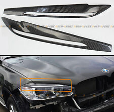 FOR 2015-17 BMW F16 X6 F86 X6M CARBON FIBER HEADLIGHT EYE LID COVER EYEBROW PAIR