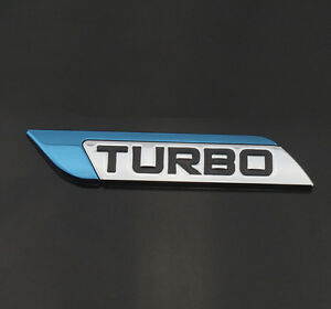 Blue Turbo Charger Metal Decal Emblem Badge Sticker For Chevrolet Malibu Cruze