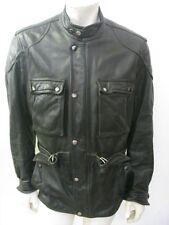 HEIN GERICKE Black Leather Motorcycle Riders Jacket Size 42