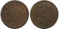 Schweiz 2 Rappen 1866