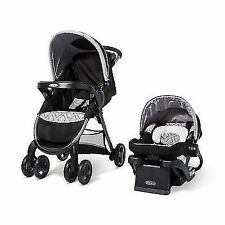 Graco 030-09-4411 FastAction Fold Click Connect Travel System - Asher