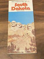 Vintage 1973 South Dakota Official State Highway Map