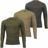 Mens Jumper Crosshatch Knitted Sweater Pullover Top BENSONS Warm Winter Fashion