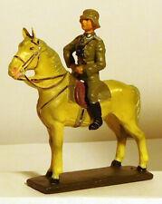 Lineol Duscha German Officer on Standing Horse