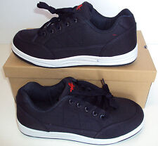 Mens Navy White Skate Lace Up Casual Trainers New Shoes Sizes 6 7 8